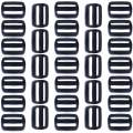 1 Inch Plastic Tri-Glide Slides for Backpacks and Bags (100 Pack)
