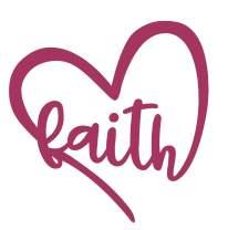 Heart Shaped Bumper Sticker - Perfect Faith Gift (Pink)