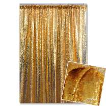 Kate 4x7ft/1.25m(W) x2.2m(H) Gold Sequin Backdrop Golden Birthday Wedding Party Celebration Festival Decoration Curtain Photography Backgrounds
