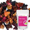 Wild Cherry Hibiscus Herbal Fruit Tea - Caffeine Free Loose Leaf Bulk Herbs and Flowers - 3 Oz Pouch