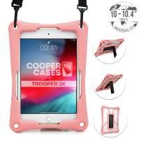Cooper Trooper 2K Rugged Case for 10-10.4'' Tablet | Tough Bumper Protective Drop Shock Proof Kids Holder Carrying Cover Bag, Stand, Hand Strap (Pink)