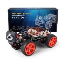 SunFounder Smart Video Car Kit V2.0 PiCar-v Raspberry Pi 4 Model B 3B+ 3B 2B Graphical Visual Programming Language,Video Transmission,Remote Control by UI on Windows Mac Web Browser with Detail Manual