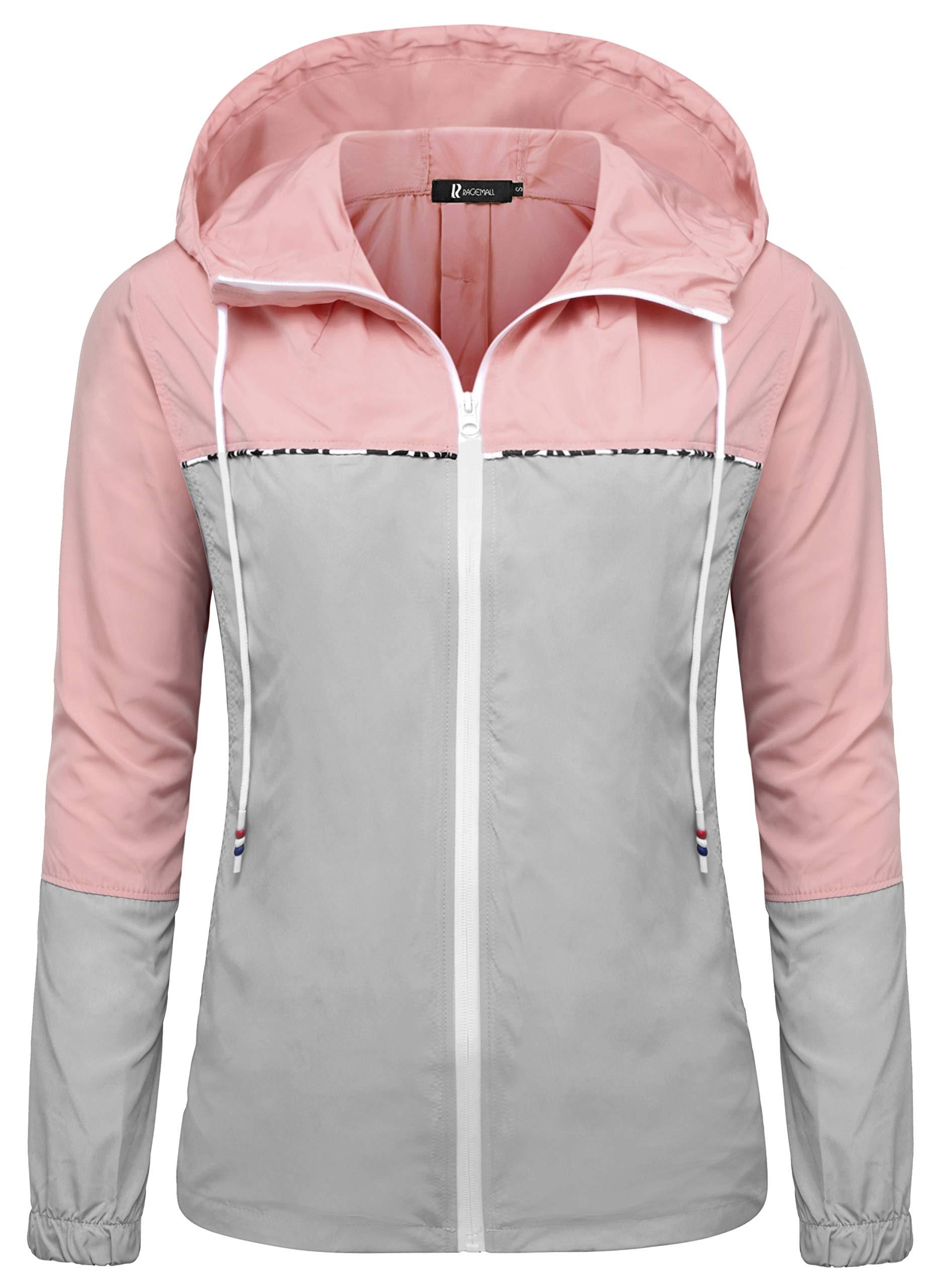 RAGEMALL Women's Waterproof Raincoats Packable Lightweight Windbreaker Active Outdoor Hooded Rain Jacket