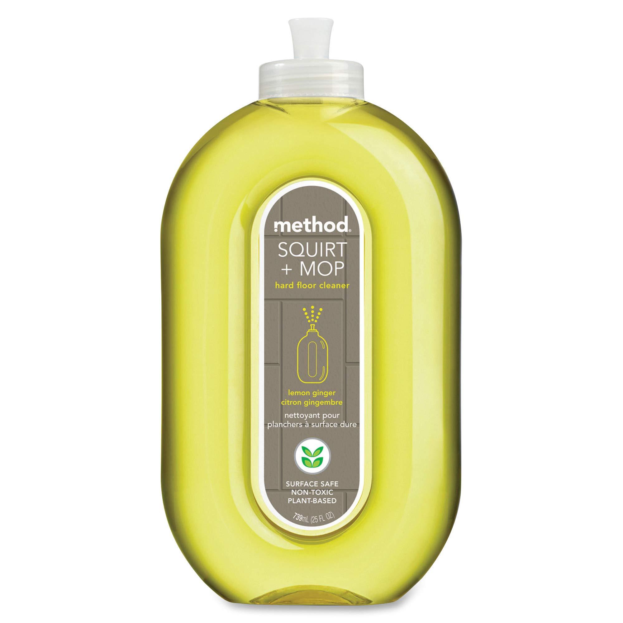 Method Squirt + Mop Hard Floor Cleaner, Lemon Ginger, 25 Fl Oz (Pack 6)
