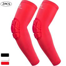 HOPEFORTH 2PCS Elbow Padded Sleeve Compression Arm Guard Sports Shooter Sleeve Protective Gear Pads Support for Football Basketball Volleyball Baseball Softball Tennis Cycling Outdoor Youth Man Women