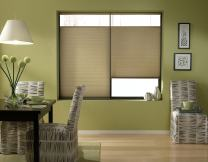 Windowsandgarden Cordless Top Down Bottom Up Cellular Honeycomb Shades, 30W x 67H, Amber, Any Size 19-72 Inches Wide