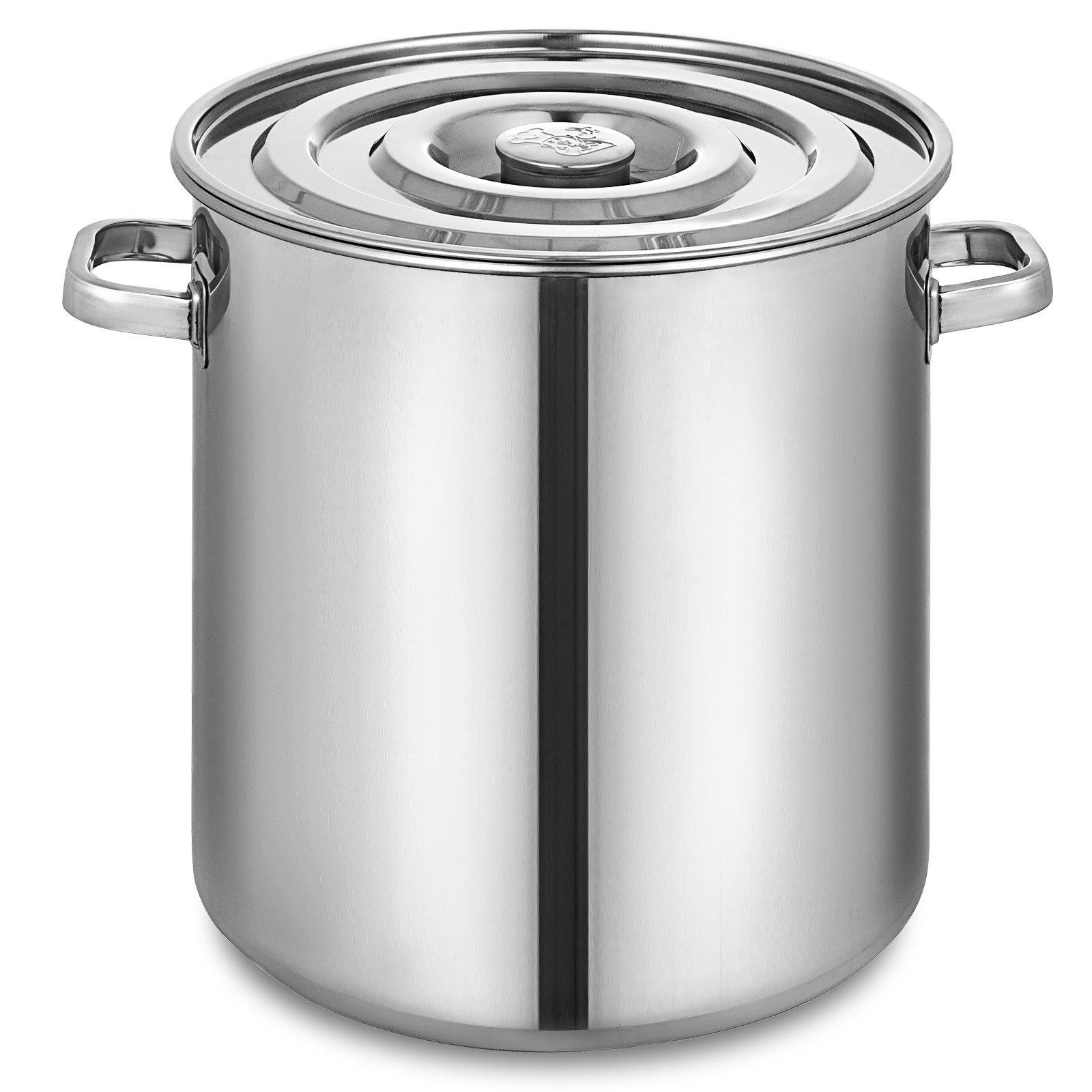 Mophorn Lid 18.5Gal Home Brew and Stock Pot Cookware, 74 Quart