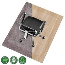 Office Marshal Chair Mat for Hard Floors | Eco-Friendly Series Chair Floor Protector | 100% Recycled (PET) Floor Mat for Office or Home Use | Multiple Sizes | Translucent - 48'' x 60''