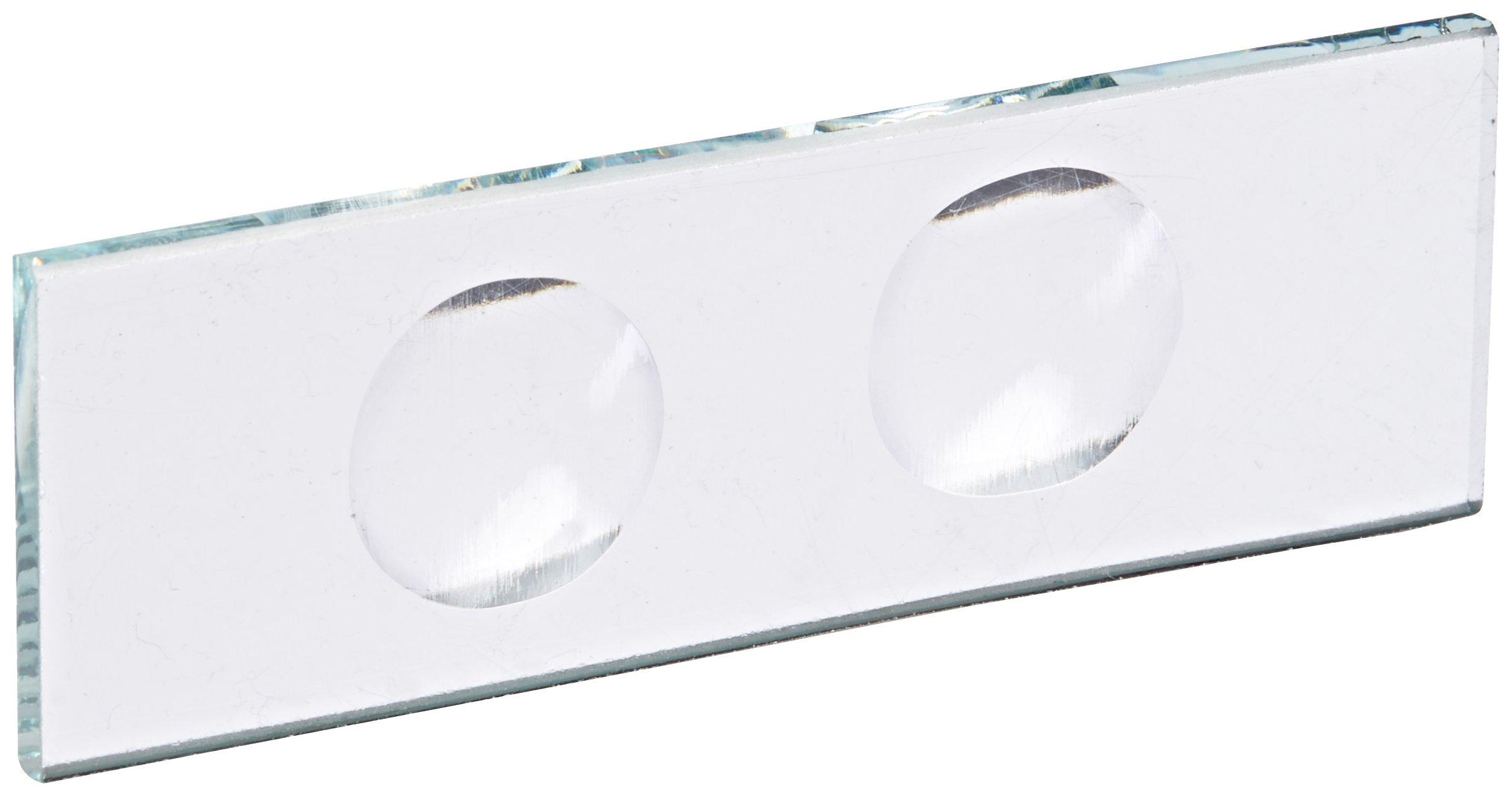 United Scientific CSTK02 Glass Microscope Slide, 2 Concavities (Pack of 12)