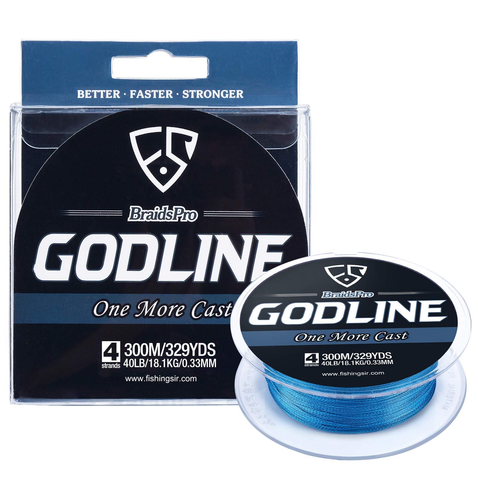 FISHINGSIR GODLINE Braided Fishing Line - Super Power Braid Lines - Abrasion Resistant Superline, 150-1094 Yds, 8-120LB