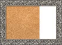 "Framed Dry Erase and Cork Board Combo | Bulletin Boards and Cork Boards | Multifunctional Combo Boards | Silver Luxor Frame | 32.75 x 23.75"""