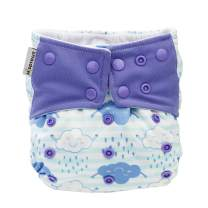 Hi Sprout One Size Adjustable Washable Reusable Pocket Cloth Diapers for Baby Girls and Boys,Rainy Day