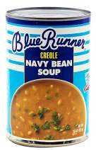 Blue Runner—Creole Style Navy Bean Soup—15 Ounce Can (Pack of 12)—A Flavorful and Authentic Creole Classic—Heat and Serve, or Add Meat