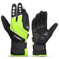 INBIKE Cycling Gloves for Men Windproof Reflective Thermal Gel Pads Touch Screen