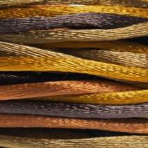 Rattail Satin Cord – Smooth and Soft Specialty Crafting Cord (Wheatberry, 3MM)