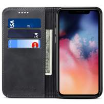Wallet Case Flip Cover for 2019 iPhone 11, Kickstand Magnetic PU Leather Folio ID Credit Card Holder Phone Case, 6.1 inches, Black