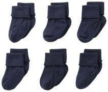 Jefferies Socks Baby Girls' 6 Pair Pack Seamless Turn Cuff Socks