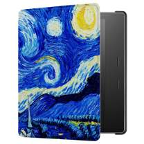 HUASIRU Painting Case for Kindle Oasis 2017/2019 (7 inches, 9th/10th Gens) Cover with Auto Sleep/Wake, Starry Sky