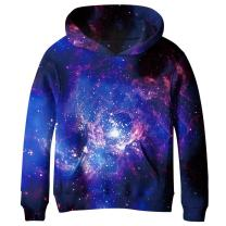 SAYM Boys' Teen Youth Galaxy Fleece Sweatshirts Pockets Cotton Hoodies 4-16Y NO3 S