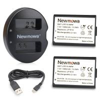 LP-E10 Newmowa Replacement Battery (2 Pack) and Dual USB Charger for Canon EOS Rebel T3 T5 1100D 1200D Kiss X50