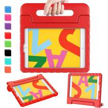 "AVAWO Kids Case for New iPad 10.2"" 2019 - Light Weight Shock Proof Convertible Handle Stand Kids Friendly Case for iPad 2019 10.2-inch Tablet (New iPad 7th Generation) - Red"