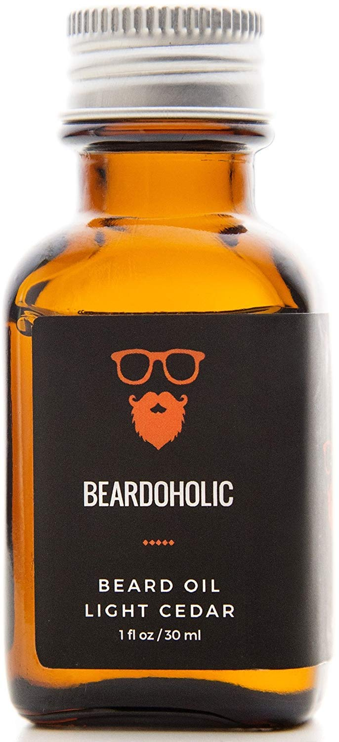 BEARDOHOLIC Premium Quality Beard Oil and Leave-in Conditioner, Softener - 100% Pure Organic Natural, Light Cedar Scent - Beard Growth and Stops Itchiness
