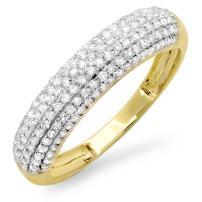 Dazzlingrock Collection 0.50 Carat (ctw) 14K Gold Round Diamond Ladies Anniversary Wedding Band 1/2 CT