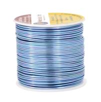 Mandala Crafts Anodized Aluminum Wire for Sculpting, Armature, Jewelry Making, Gem Metal Wrap, Garden, Colored and Soft, 1 Roll(18 Gauge, Ice Blue)