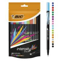 BIC 12 Intensity Fineliner Pen - Assorted Pack of 20
