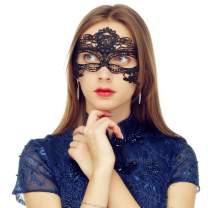 MYMENU Masquerade Mask for Women Vintage Luxury Mask Women's Lace Eye Mask for Masquerade Party Prom Ball Halloween (Queen Black)