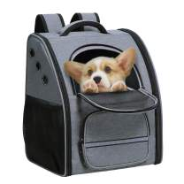 ENNEFU Comfortable Dog Cat Carrier Backpack Puppy Pet Front Pack with Breathable Head Out Design and Padded Shoulder for Hiking Outdoor Travel