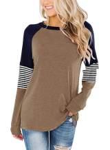 ZC&GF Women's Comfy Long Sleeve Side Split Casual Tunics Tops Blouses Tshirts