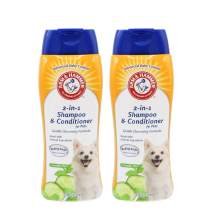 Arm & Hammer 2-in-1 Shampoo & Conditioner for Dogs | Dog Shampoo & Conditioner in One | Cucumber Mint, 20 Ounces - 2 Pack