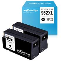 myCartridge Remanufactured Ink Cartridge Replacement for HP 952XL 952 XL Upgraded Chip (2 Black) Officejet Pro 8710 8715 8720 8740 7740 8210 8730 8702 8725 8216