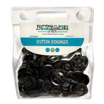 Buttons Galore and More Basics & Bonanza Collection – Extensive Selection of Novelty Round Buttons for DIY Crafts, Scrapbooking, Sewing, Cardmaking, and other Art & Creative Projects - BB19