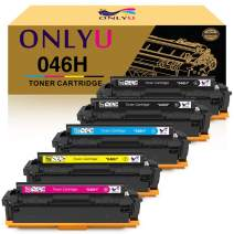 ONLYU Compatible Toner Cartridge Replacement for Canon 046 046H for Color ImageCLASS MF735Cdw LBP654Cdw MF731Cdw MF733Cdw Laser Printer (2Black, Yellow, Magenta, Cyan, 5-Pack)