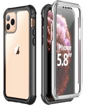 SPIDERCASE iPhone 11 Pro Case, Built-in Screen Protector Clear Full Body Heavy Duty Protection for iPhone 11 Pro, Shockproof Anti-Scratched Rugged iPhone 11 Pro Case, for iPhone 11 Pro 5.8 inch 2019