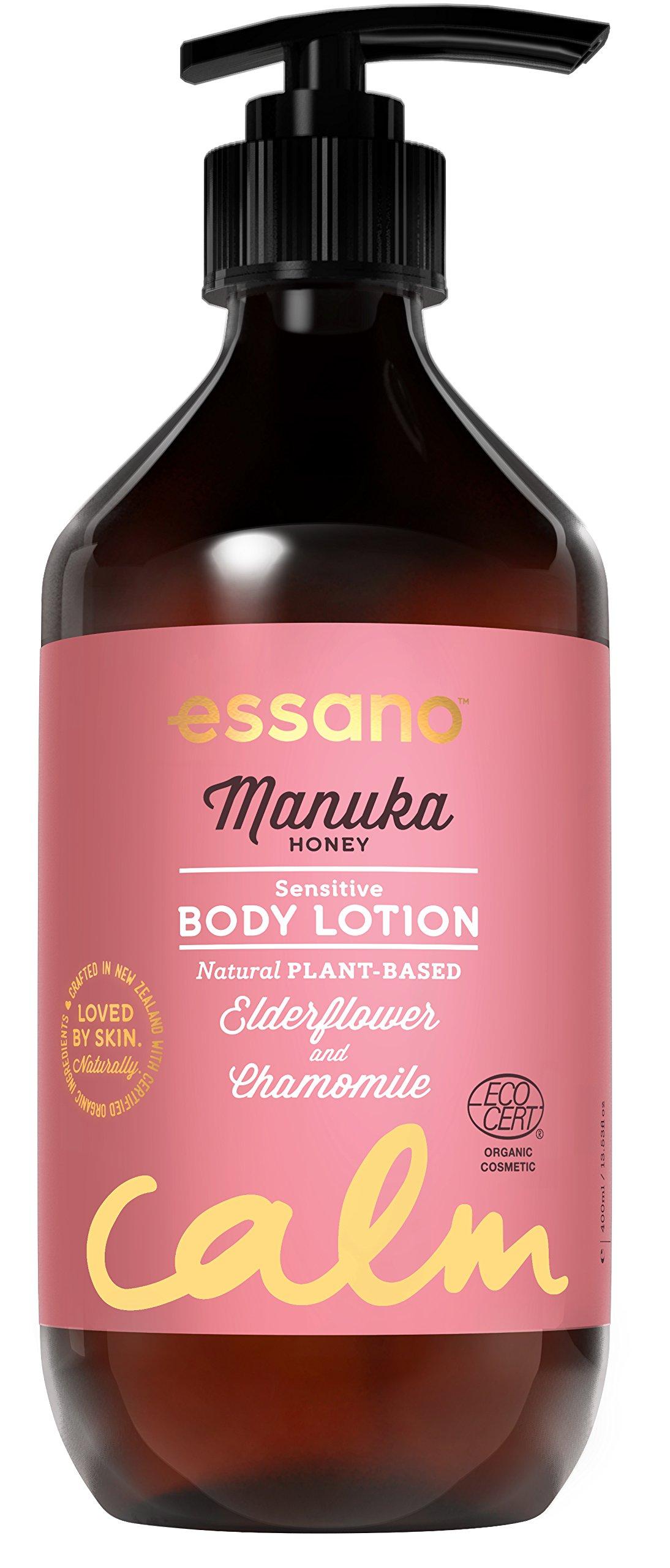 Essano Certified Organic Manuka Honey Sensitive Body Lotion, 400ml (13.5oz)