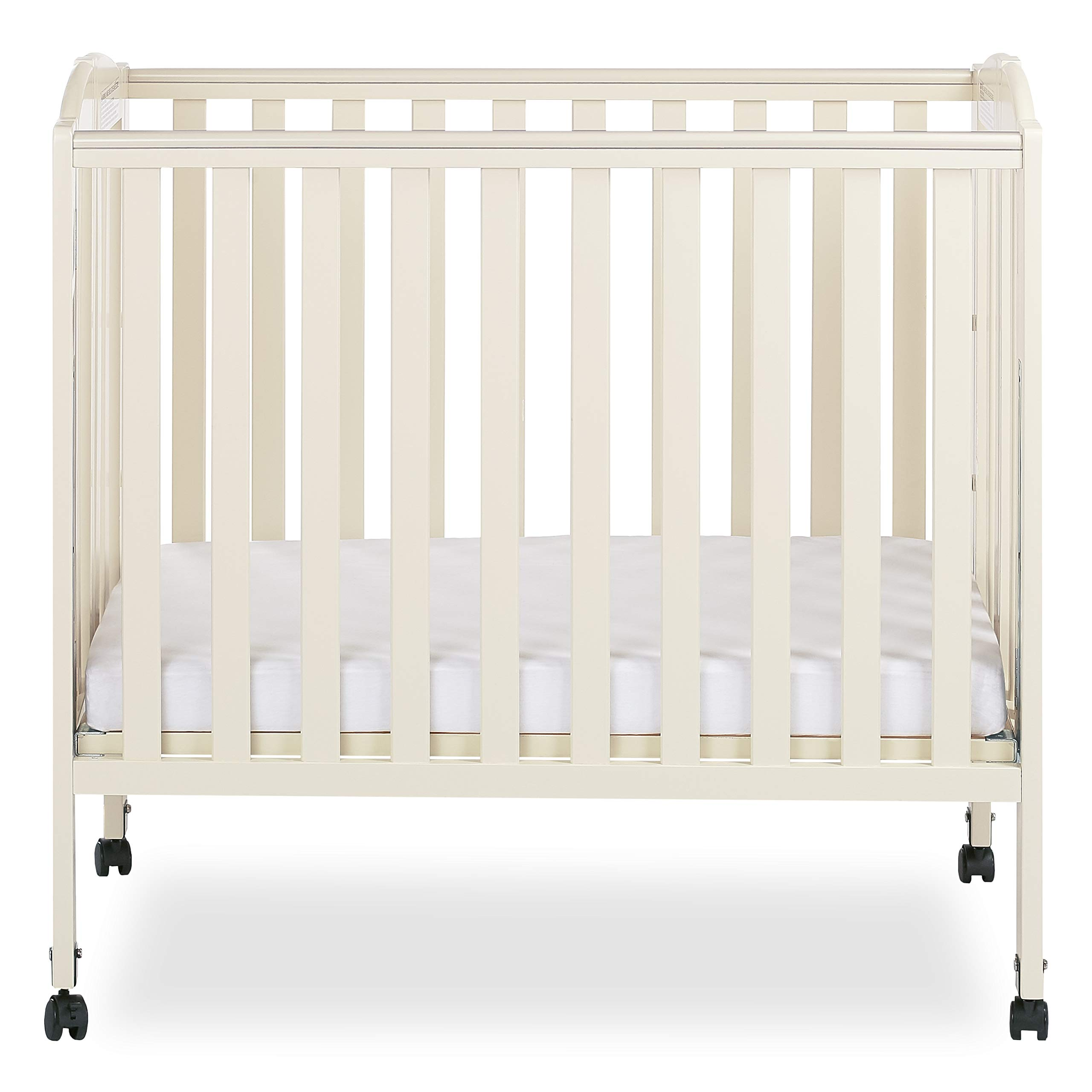 Dream On Me 3-in-1 Folding Portable Crib, French White