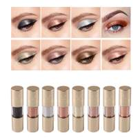 Glitter Liquid Eyeshadow, Coosa 8 Colors Metallic Shimmer Glitter Eyeliners Lasting Sparkling Sliver Gold Eye Shadow