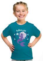 Birthday Girl Mermaid | Mermaid B-Day Party Cute Girly Top, Girl's Youth T-Shirt