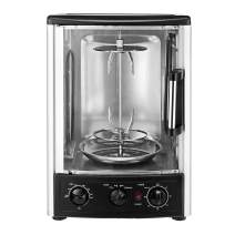 "Alpine Cuisine AI30003 Roaster Multi Function Countertop Oven Bake Roast Broil Slow Cook Rotisserie Kebab Gyro 23L 1500W, 14"" x 12.2"" x 18.9"", black"