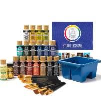 FolkArt 99301 Studio Series Let's Paint Kit, Multiple Colors 39 Piece