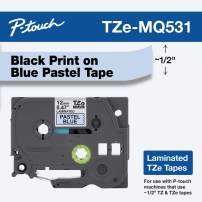 "Brother Genuine P-touch TZE-MQG35 Tape, 1/2"" (0.47"") Wide Standard Laminated Tape, White on Lime Green, Laminated for Indoor or Outdoor Use, Water-Resistant, 0.47"" x 16.4' (12mm x 5M), TZEMQG36"