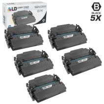 LD Compatible Toner Cartridge Replacement for HP 87X CF287X High Yield (Black, 5-Pack)