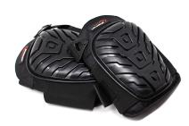 SAFE HANDLER Professional Crystal Gel Knee Pads with Heavy Duty Foam Padding and Comfortable Gel Cushion | Strong Double Straps, Easily Adjustable Fix Clips (Black)