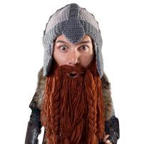 Beard Head Dwarf Warrior Beard Beanie - Epic Knit Dwarf Helmet and Fake Beard