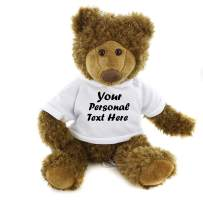 Plushland Adorable Frankie Bear 12 Inches, Stuffed Animal Personalized Gift - Great Present for Mothers Day Valentine Day Graduation Day Birthday Christmas - Custom Text on Hoodie (White)