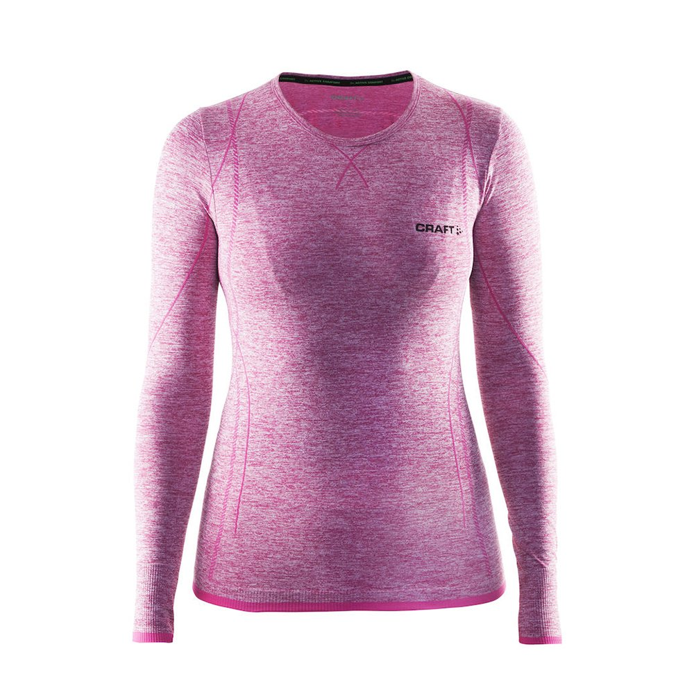 Craft Womens Long Sleeve Active Comfort Roundneck Base Layer Seamless Shirt