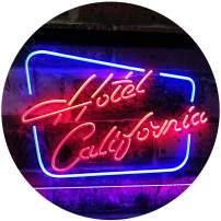 """ADVPRO Hotel California Bar Club Room Beer Dual Color LED Neon Sign Blue & Red 24"""" x 16"""" st6s64-i3092-br"""